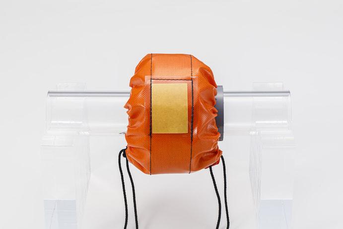 飛散防止安全シールド(PVCオレンジ)の商品画像